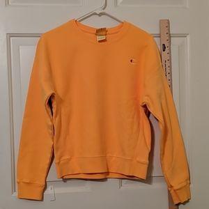 Women's peach orange Medium Champion Sweatshirt